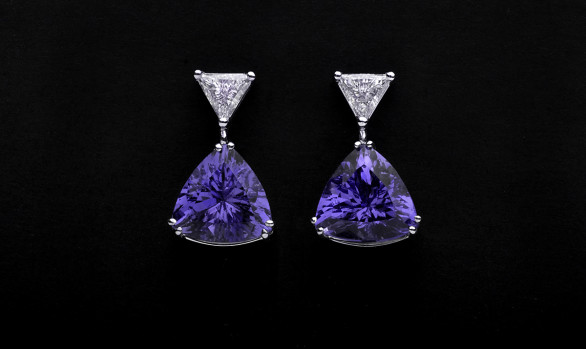 Arracades diamants i tanzanites