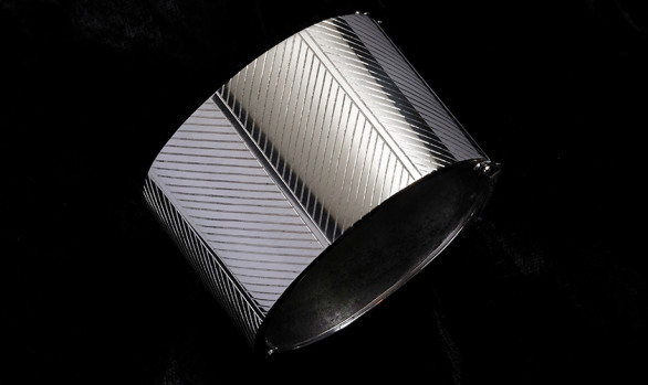 Hand-engraved silver cuff