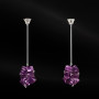 Diamond and Munsteiner amethyst earrings