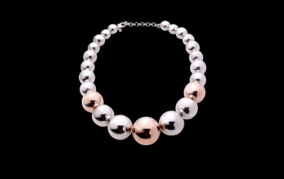 Bicolor silver necklace