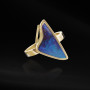 Anillo oro ópalo triangular